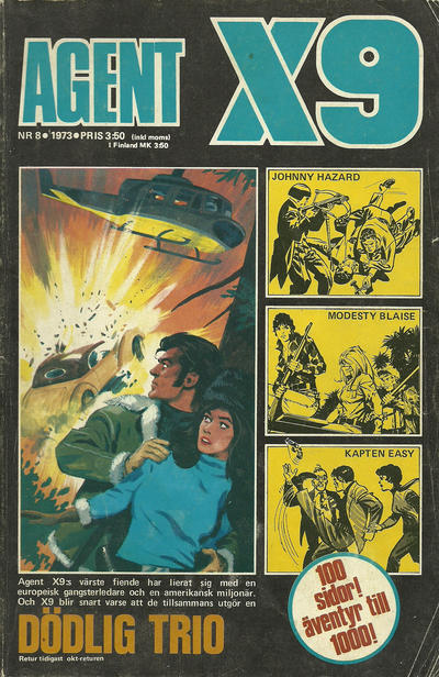 Cover for Agent X9 (Semic, 1971 series) #8/1973