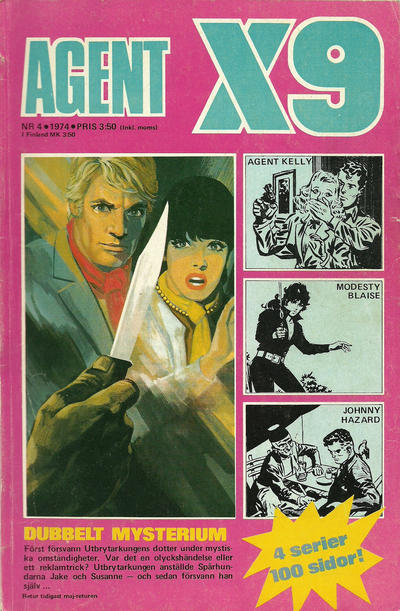 Cover for Agent X9 (Semic, 1971 series) #4/1974
