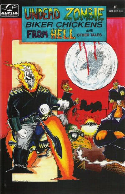Cover for Undead Zombie Biker Chickens from Hell (Alpha Productions, 1992 series) #1