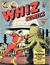 Cover Thumbnail for Whiz Comics (L. Miller & Son, 1950 series) #84