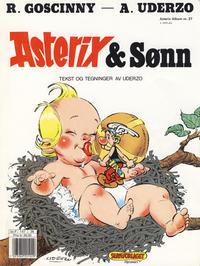 Cover Thumbnail for Asterix (Hjemmet / Egmont, 1969 series) #27 - Asterix & Sønn [3. opplag]