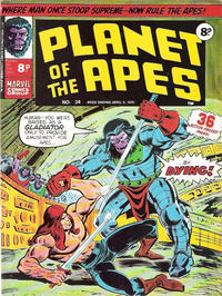 Cover Thumbnail for Planet of the Apes (Marvel UK, 1974 series) #24