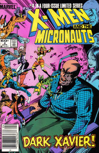 Cover Thumbnail for The X-Men and the Micronauts (Marvel, 1984 series) #4 [Newsstand]