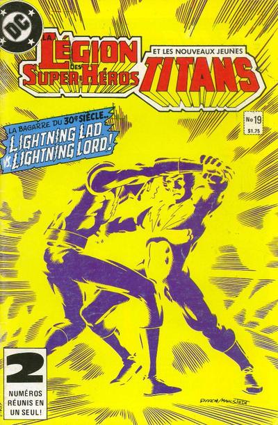 Cover for La Légion des Super Héros et les Nouveaux Jeunes Titans (Editions Héritage, 1984 series) #19