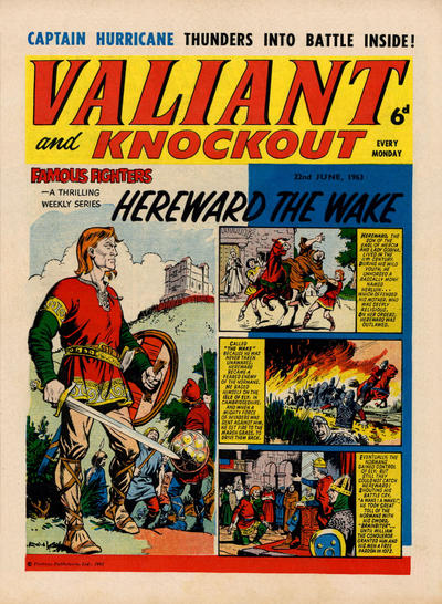 Cover for Valiant and Knockout (IPC, 1963 series) #22 June 1963