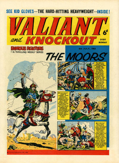 Cover for Valiant and Knockout (IPC, 1963 series) #6 July 1963