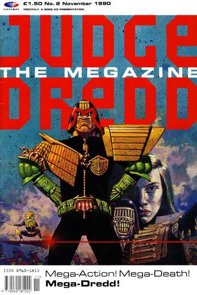 Cover for Judge Dredd the Megazine (Fleetway Publications, 1990 series) #2