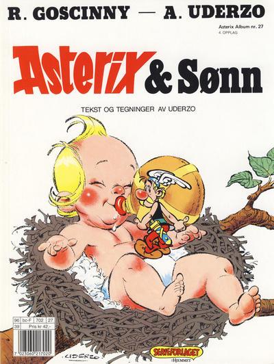 Cover for Asterix (Hjemmet / Egmont, 1969 series) #27 - Asterix & Sønn [2. opplag]
