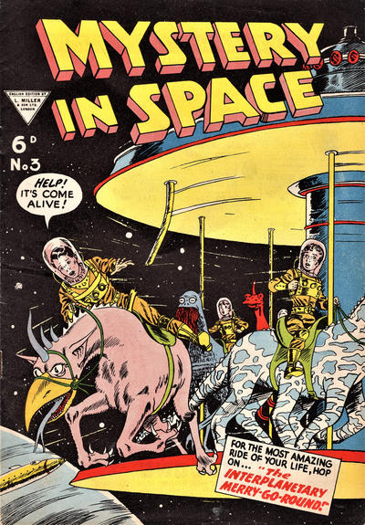 Cover for Mystery in Space (L. Miller & Son, 1955 ? series) #3