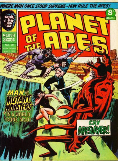 Cover for Planet of the Apes (Marvel UK, 1974 series) #30