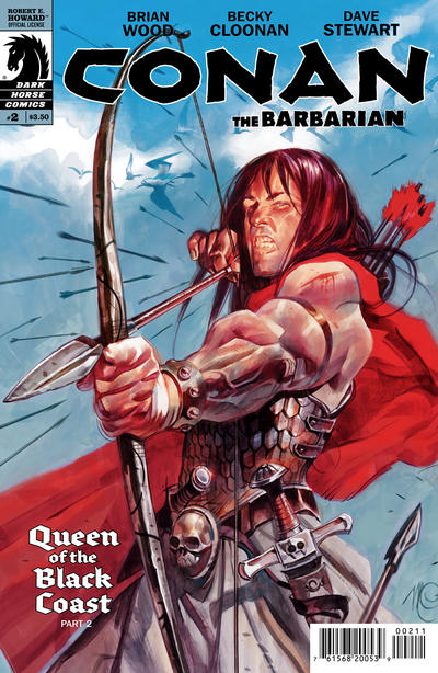 Cover for Conan the Barbarian (Dark Horse, 2012 series) #2 [89] [Variant Cover by Leandro Fernandez]