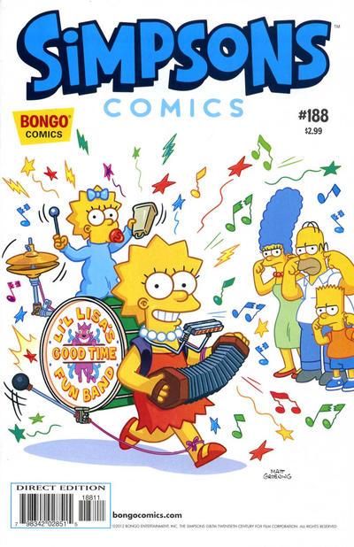Cover for Simpsons Comics (Bongo, 1993 series) #188