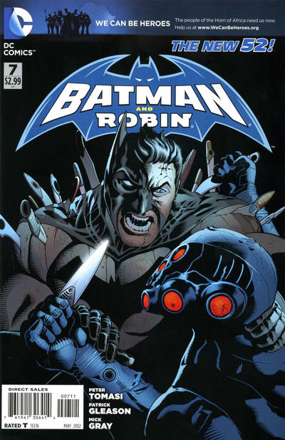 Cover for Batman and Robin (DC, 2011 series) #7