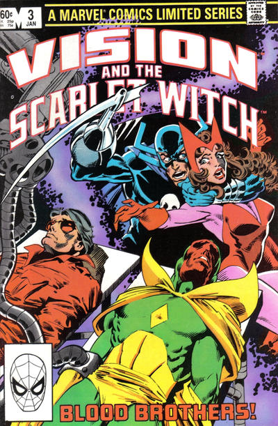 Cover for The Vision and the Scarlet Witch (Marvel, 1982 series) #3 [Direct Edition]