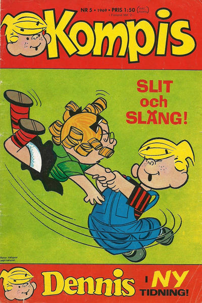 Cover for Dennis (Semic, 1969 series) #5/1969