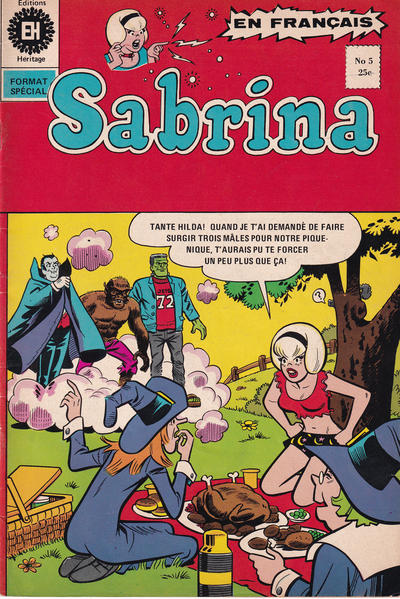 Cover for Sabrina La Jeune Sorcière (Editions Héritage, 1973 series) #5