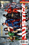 Cover for Justice League (DC, 2011 series) #1 [Second Printing Combo-Pack]