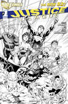 Cover Thumbnail for Justice League (2011 series) #1 [Fifth Printing - Jim Lee Black & White Cover]