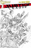 Cover Thumbnail for Justice League (2011 series) #1 [Sixth Printing - Jim Lee Sketch Cover]