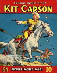 Cover Thumbnail for Cowboy Comics (Amalgamated Press, 1950 series) #193
