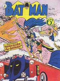 Cover for Batman (K. G. Murray, 1950 series) #74