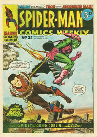 Cover Thumbnail for Spider-Man Comics Weekly (Marvel UK, 1973 series) #33