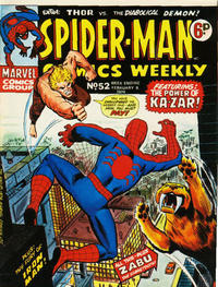 Cover Thumbnail for Spider-Man Comics Weekly (Marvel UK, 1973 series) #52