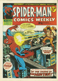 Cover Thumbnail for Spider-Man Comics Weekly (Marvel UK, 1973 series) #41