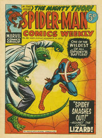 Cover Thumbnail for Spider-Man Comics Weekly (Marvel UK, 1973 series) #39