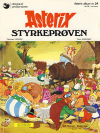 Cover Thumbnail for Asterix (Hjemmet / Egmont, 1969 series) #24 - Styrkeprøven [1. opplag]