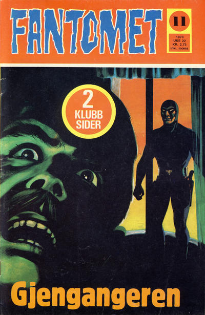 Cover for Fantomet (Nordisk Forlag, 1973 series) #11/1973