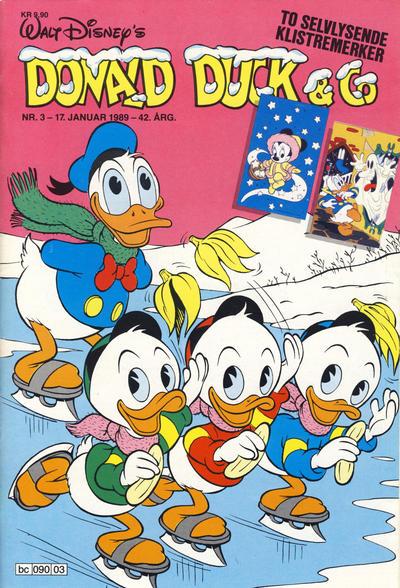 Cover for Donald Duck & Co (Hjemmet / Egmont, 1948 series) #3/1989