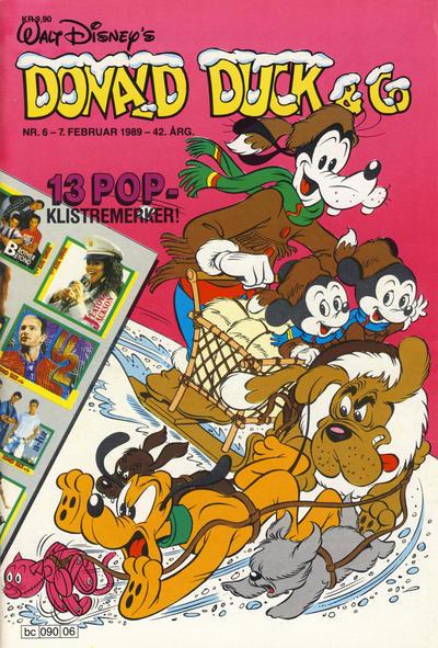 Cover for Donald Duck & Co (Hjemmet / Egmont, 1948 series) #6/1989