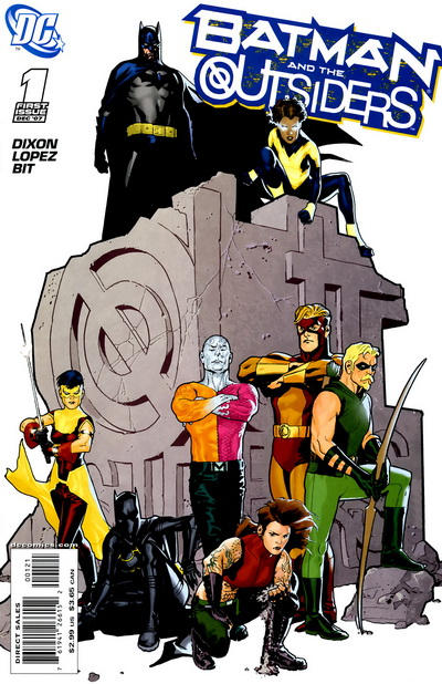 Cover for Batman and the Outsiders (DC, 2007 series) #1 [Ryan Sook Cover]