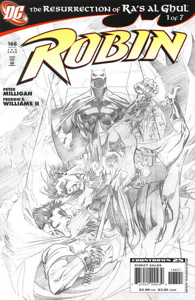 Cover for Robin (DC, 1993 series) #168 [Variant B: 2nd Printing Stephane Roux Variant]
