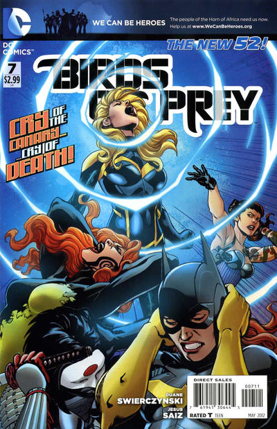 Cover for Birds of Prey (DC, 2011 series) #7