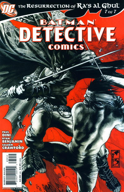 Cover for Detective Comics (DC, 1937 series) #839 [2nd Print]