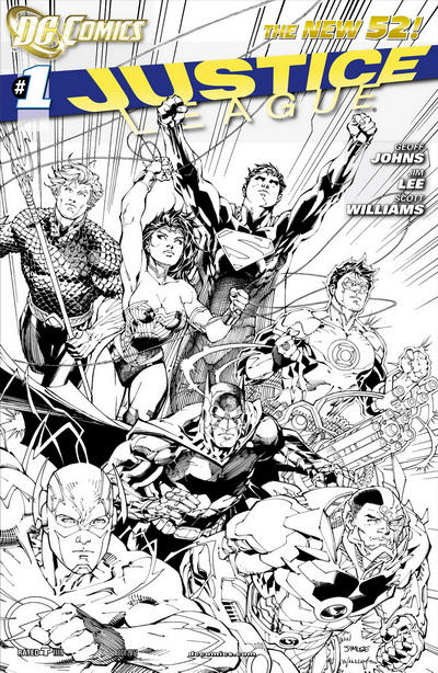 Cover for Justice League (DC, 2011 series) #1 [David Finch Variant Cover]