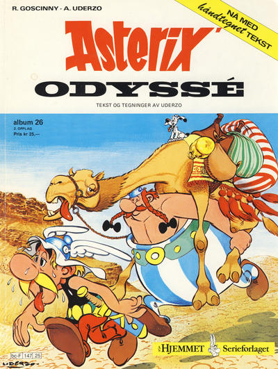 Cover for Asterix (Hjemmet / Egmont, 1969 series) #26 - Asterix' odyssé [5. opplag]