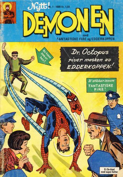 Cover for Demonen (Serieforlaget / Se-Bladene / Stabenfeldt, 1969 series) #1/1969