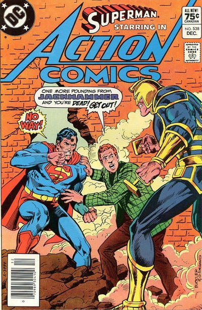 Cover for Action Comics (DC, 1938 series) #538