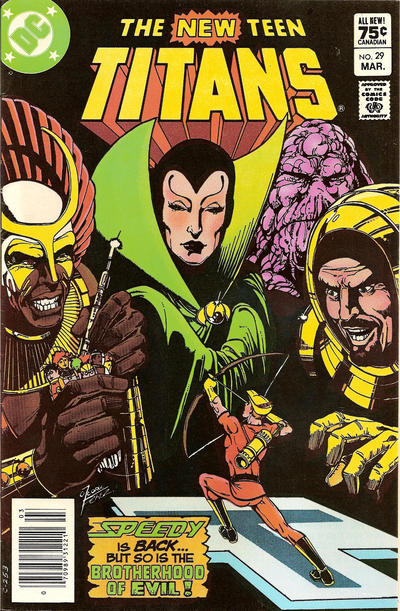 Cover for The New Teen Titans (DC, 1980 series) #29 [Canadian]