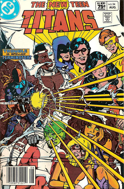 Cover for The New Teen Titans (DC, 1980 series) #34 [Canadian]
