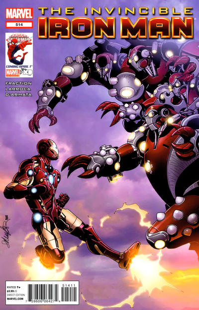 Cover for Invincible Iron Man (Marvel, 2008 series) #514