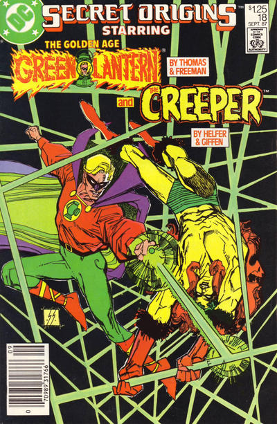 Cover for Secret Origins (DC, 1986 series) #18 [Newsstand]