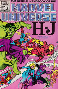 Cover Thumbnail for The Official Handbook of the Marvel Universe (Marvel, 1983 series) #5 [Direct]