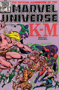 Cover Thumbnail for The Official Handbook of the Marvel Universe (Marvel, 1983 series) #6 [Direct]