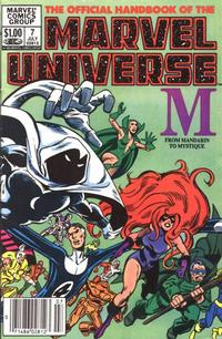 Cover Thumbnail for The Official Handbook of the Marvel Universe (Marvel, 1983 series) #7