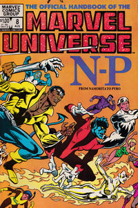 Cover Thumbnail for The Official Handbook of the Marvel Universe (Marvel, 1983 series) #8 [Direct]
