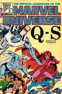Cover Thumbnail for The Official Handbook of the Marvel Universe (Marvel, 1983 series) #9 [Direct]